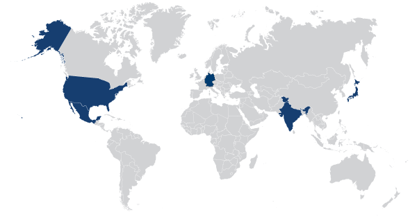 HLS accounting tax services map us japan mexico india germany